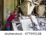an unidentified worker...   Shutterstock . vector #477595138