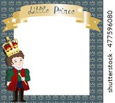 little prince background with... | Shutterstock .eps vector #477596080