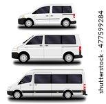 passenger vans and minivans. | Shutterstock .eps vector #477599284