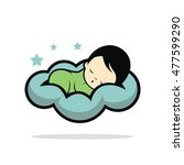 sleep baby logo vector | Shutterstock .eps vector #477599290