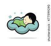 sleep baby logo vector   Shutterstock .eps vector #477599290