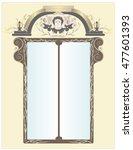 renaissance window in the wall... | Shutterstock .eps vector #477601393