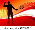 tennis player with red abstract ... | Shutterstock .eps vector #47760772
