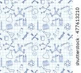 seamless sketch of science... | Shutterstock . vector #477613210