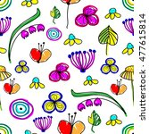 seamless vector floral pattern. ... | Shutterstock .eps vector #477615814