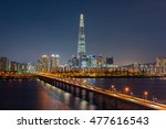 seoul subway and seoul city... | Shutterstock . vector #477616543