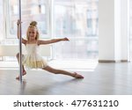 beautiful little girl dancing...   Shutterstock . vector #477631210