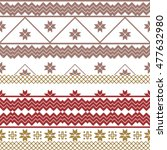 scheme for embroidery nordic... | Shutterstock .eps vector #477632980
