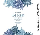 floral wedding invitation.... | Shutterstock .eps vector #477639730