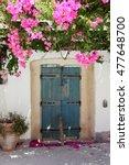 Rustic Doorway With Overhangin...