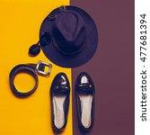 vintage set. fashion... | Shutterstock . vector #477681394