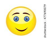 smiling emoticon | Shutterstock .eps vector #477690079