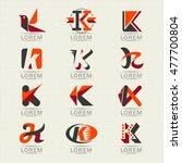 logo letter k. element and... | Shutterstock .eps vector #477700804