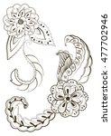 doodle flowers | Shutterstock . vector #477702946