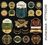 retro vintage golden frames and ... | Shutterstock .eps vector #477703240