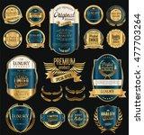 retro vintage golden frames and ... | Shutterstock .eps vector #477703264