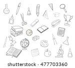school doodle icons | Shutterstock .eps vector #477703360