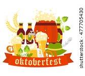 oktoberfest beer festival...   Shutterstock .eps vector #477705430