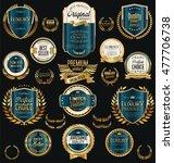 golden sale labels retro... | Shutterstock .eps vector #477706738