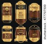 golden sale labels retro... | Shutterstock .eps vector #477707500
