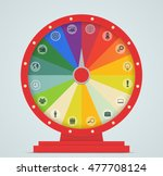 wheel of fortune with business... | Shutterstock .eps vector #477708124