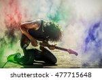 Rock Star Guitarist Playing...