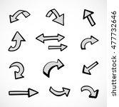 hand drawn arrows  vector set | Shutterstock .eps vector #477732646