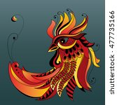 rooster.symbol of chinese new... | Shutterstock .eps vector #477735166