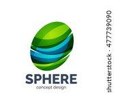 vector sphere abstract logo... | Shutterstock .eps vector #477739090