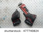 dirty hand protection glove... | Shutterstock . vector #477740824
