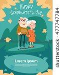 senior couple grandparents day...   Shutterstock .eps vector #477747784