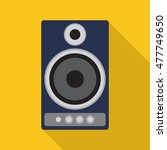 speaker icon or button in flat... | Shutterstock .eps vector #477749650