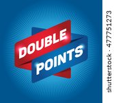 double points arrow tag sign. | Shutterstock .eps vector #477751273