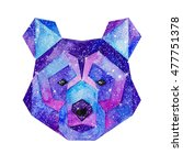 cosmic polygonal bear. hand... | Shutterstock . vector #477751378