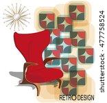poster of vintage interior... | Shutterstock .eps vector #477758524