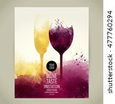 template for your wine related... | Shutterstock .eps vector #477760294