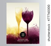 template for your wine related... | Shutterstock .eps vector #477760300
