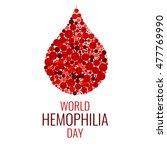 world hemophilia day. drop of... | Shutterstock . vector #477769990