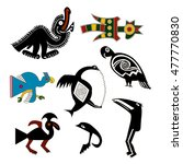 cock  parrot  vulture  a... | Shutterstock .eps vector #477770830