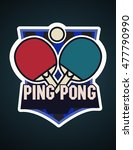 ping pong logotype. ping pong... | Shutterstock .eps vector #477790990