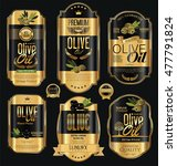olive oil retro vintage gold... | Shutterstock .eps vector #477791824