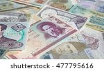 variety of middle east banknotes | Shutterstock . vector #477795616