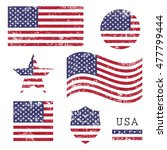 vintage usa american grunge...   Shutterstock .eps vector #477799444