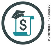 education invoice rounded icon. ... | Shutterstock .eps vector #477800890