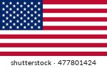 united states of america flag . | Shutterstock .eps vector #477801424