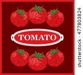 tomato brown background vector... | Shutterstock .eps vector #477803824