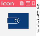 wallet flat vector icon.... | Shutterstock .eps vector #477811663