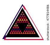 geometric colorful triangle... | Shutterstock . vector #477814486