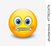 Zipped Mouth Smiley  Emoticon ...