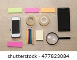 group of mobile phone lens... | Shutterstock . vector #477823084
